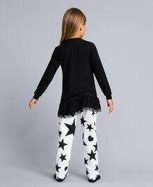 """Pyjama aus Jersey mit Sternen und Herzen Zweifarbig Schwarz / Print """"Sterne"""" Kind GA828E-04"""