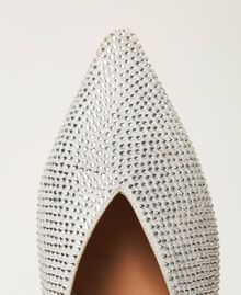 Chaussures slippers avec strass Blanc «Strass Crystal» Femme 211TCT090-04
