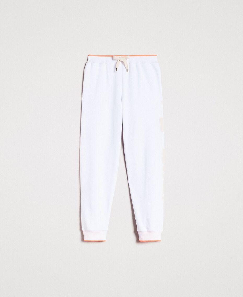Fleece-Jogginghose Weiß Frau 191LL21CC-0S