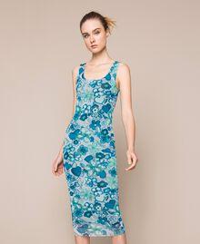 Floral tulle sheath dress Reve / Rose Print Woman 201TQ201F-02