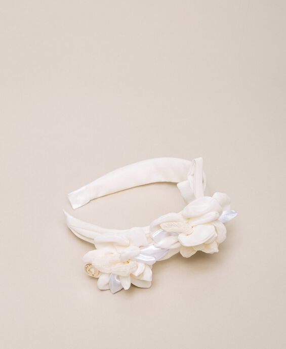 Headband with maxi flower