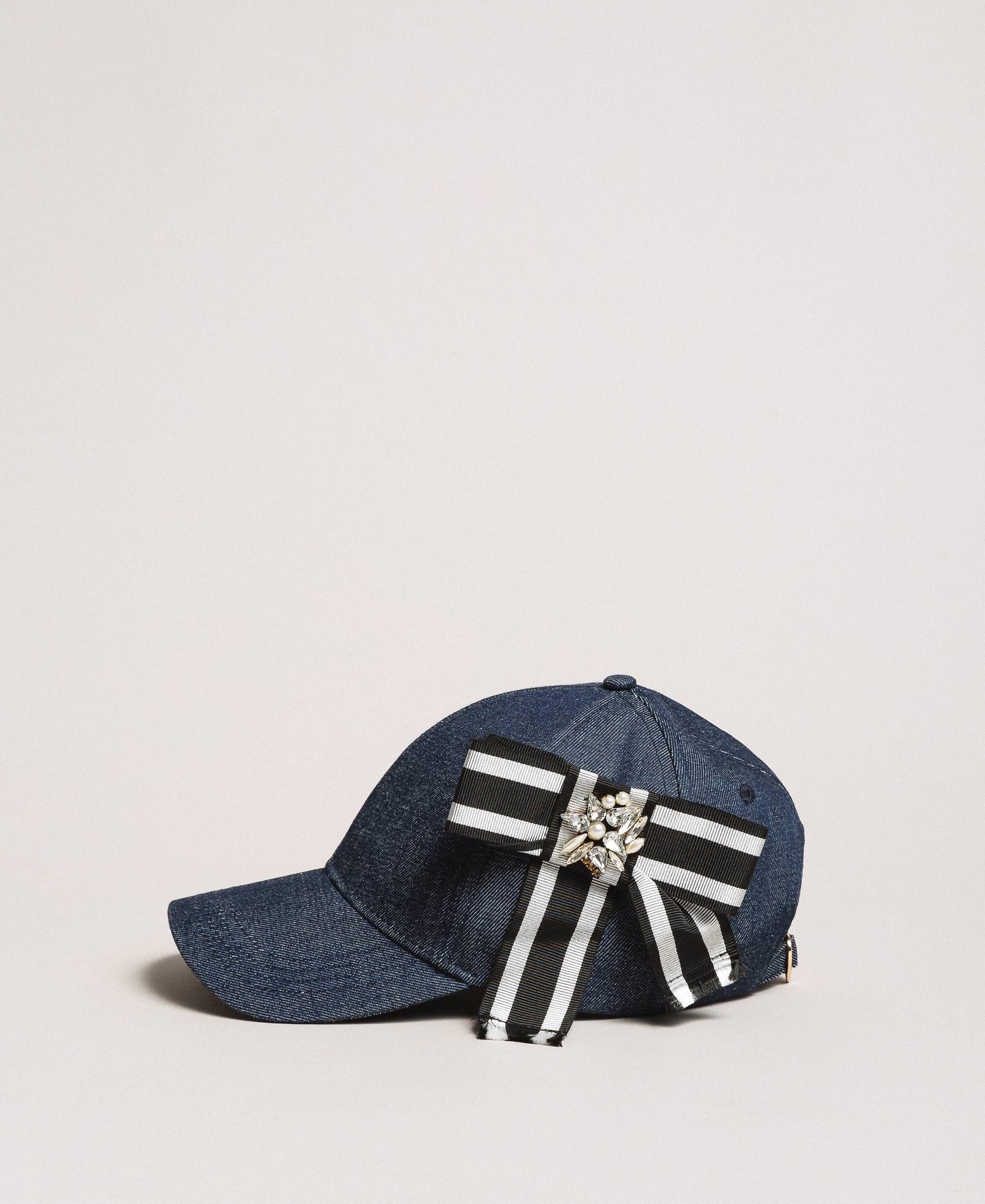 Dk Blue with Butterflys Denim Hats