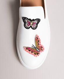 Туфли-мюли из кожи с нашитыми бабочками Белый женщина 191TCP10G-01