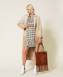 Leather bag with fringes Dark Hide Woman 212TD8010-0S