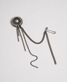 Broche avec bouton et franges de strass Argent Nickel Free Femme 192TA437C-02