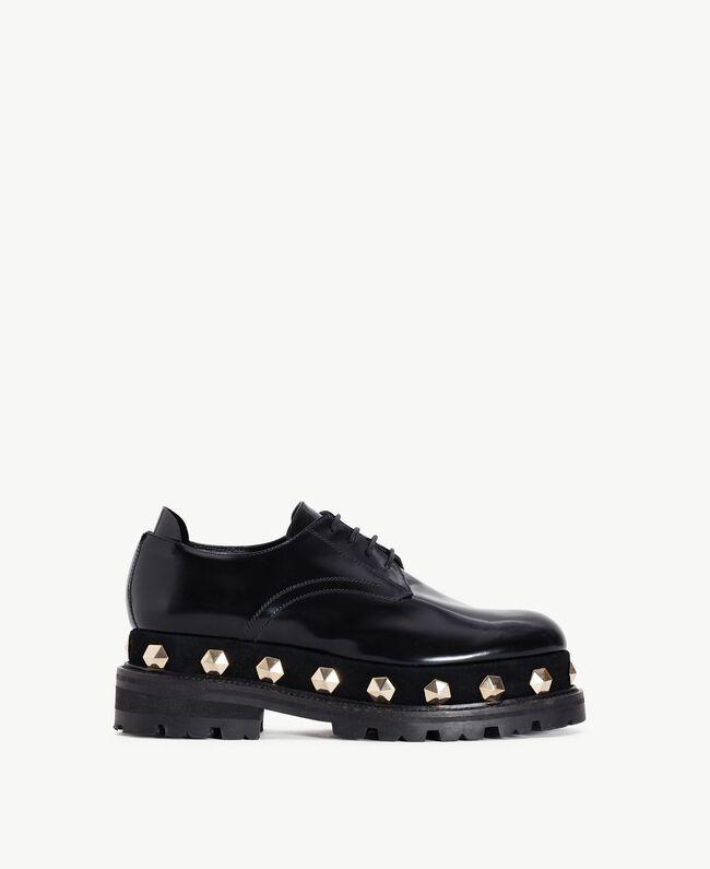 TWINSET Chaussures à lacet clous Noir Femelle CA7TGJ-01