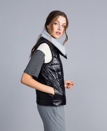 Reversible quilted gilet Black Woman IA85QQ-02