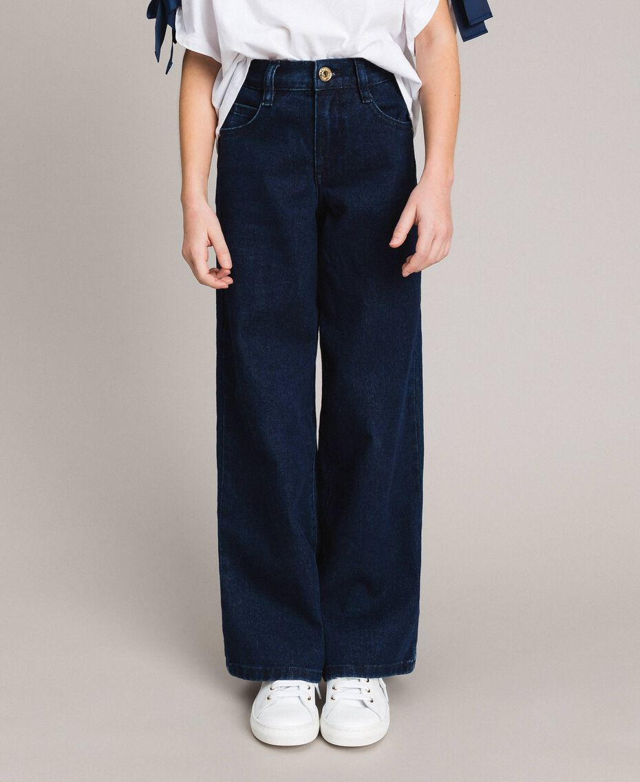 Wide leg jeans Dark Denim Child 191GJ2600-02