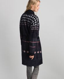 Jacquard knit coat Black Woman 192MT3210-03