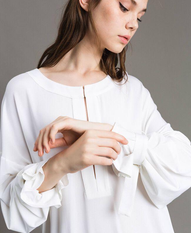 Caftan avec anneaux et rubans Blanc Femme 191LB22BB-04