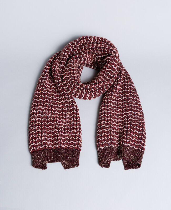 Lurex jacquard scarf Bordeaux Woman AA8P2J-01