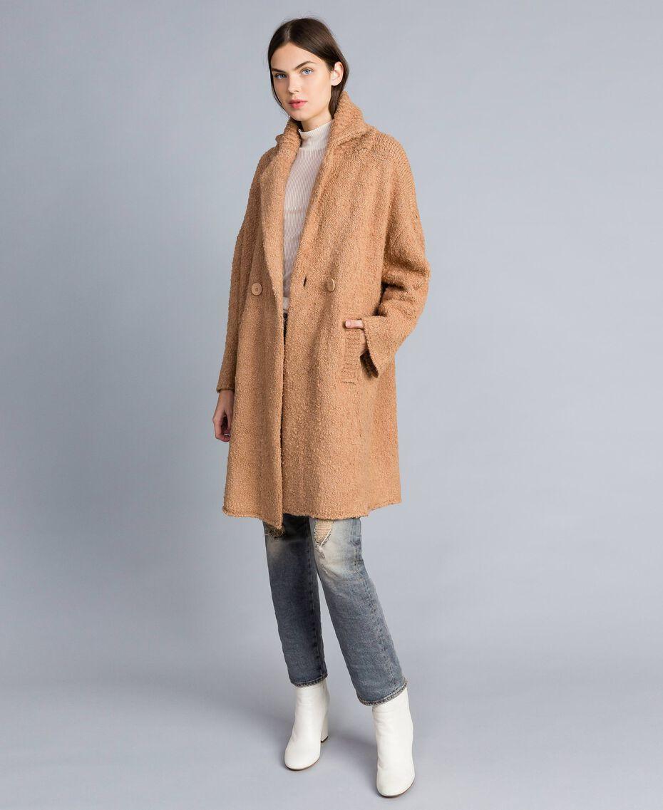 Bouclé coat Butter Woman SA83CA-01
