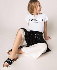 Slide-Sandalen aus Textil mit Logo Weiß Kind 201GCJ020-0S