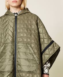 Padded cape with logo Alpine Green Woman 212TP2150-06