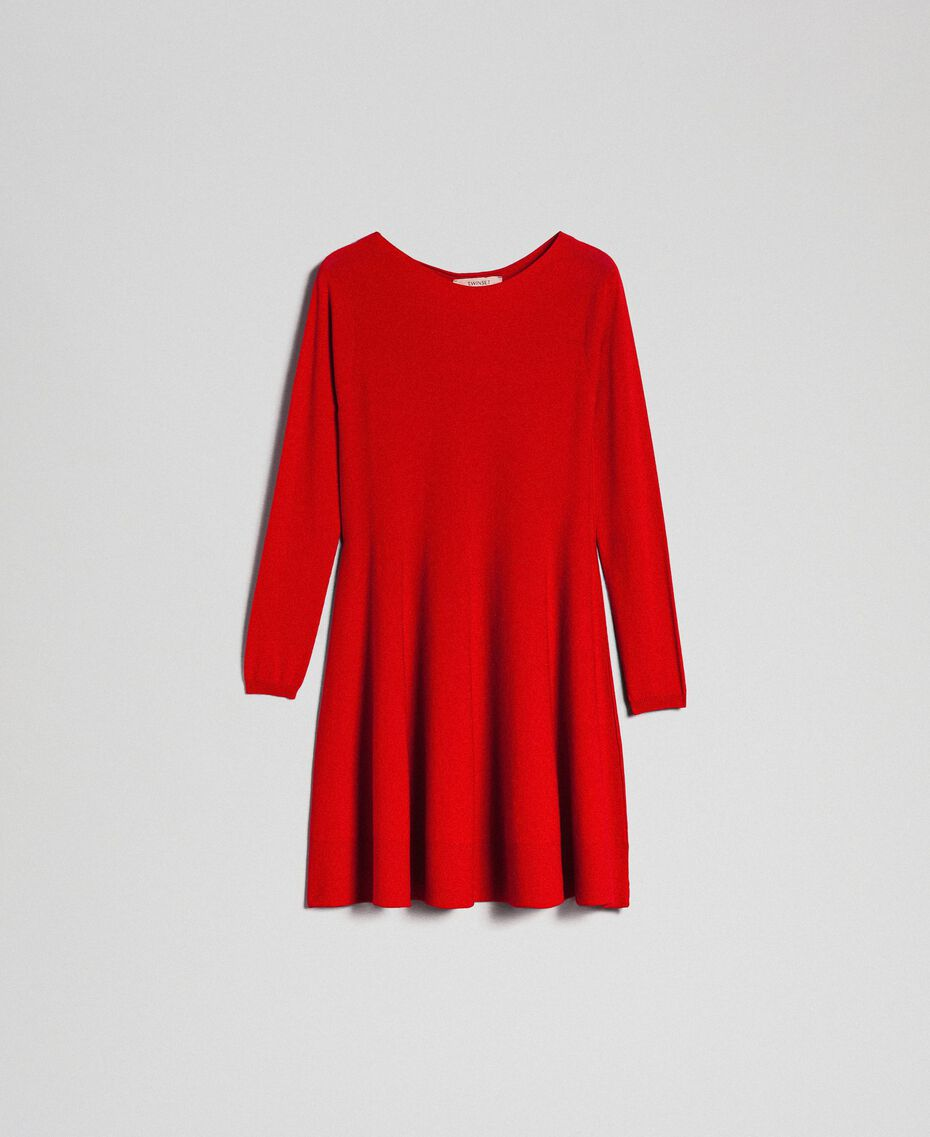 Knitted full dress Venetian Red Woman 192TT3281-0S