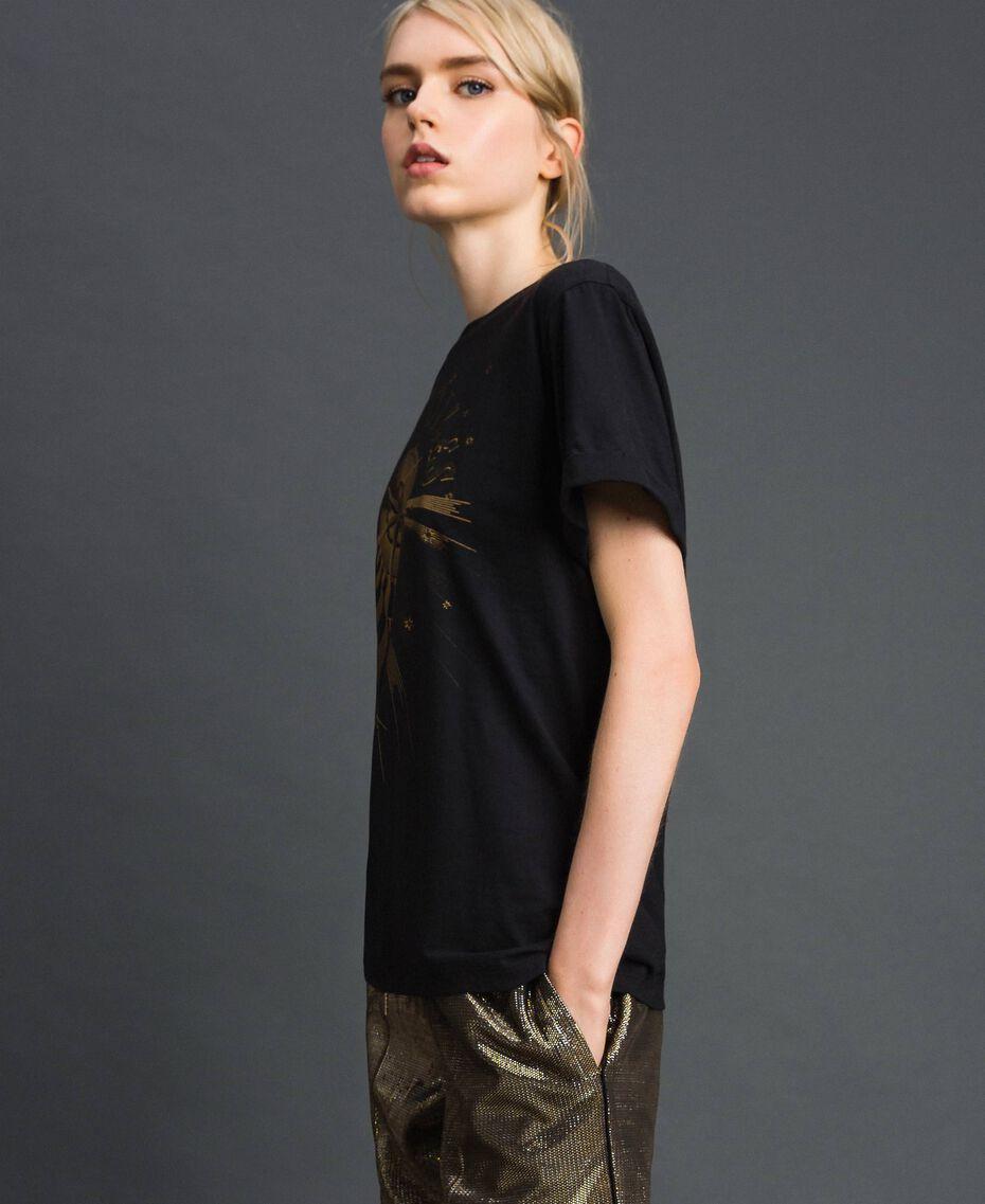 T-shirt con stampa Nero Donna 192TT2561-02
