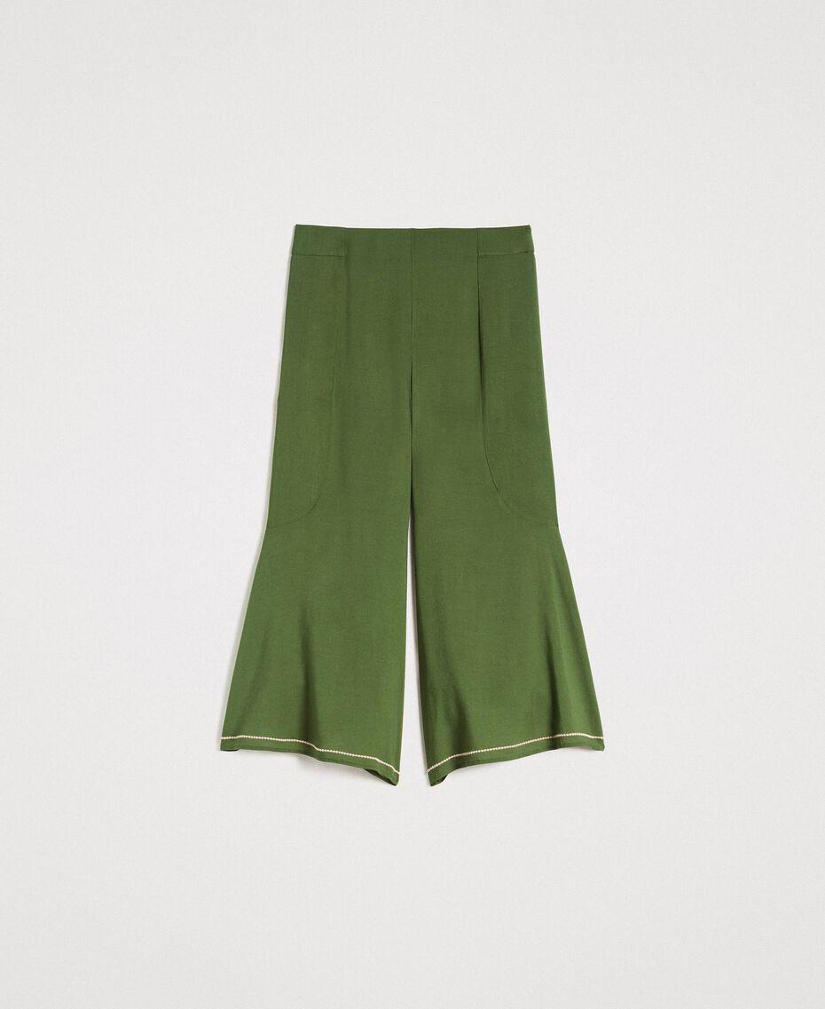 Pantalon court Vert Amazone Femme 191LM2REE-0S