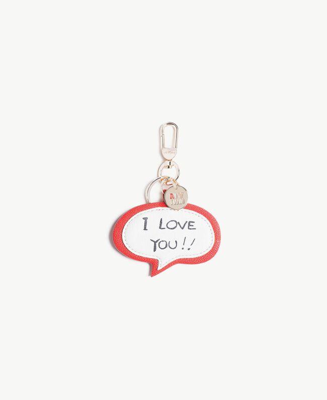 "Schlüsselanhänger in Sprechblasenform ""I Love You""-Print Hochrot Frau VS8PEA-01"
