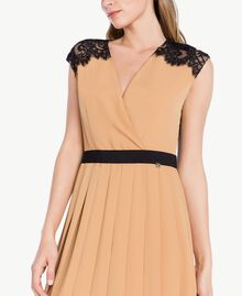"Robe midi Beige ""Honey"" / Noir PA7234-04"
