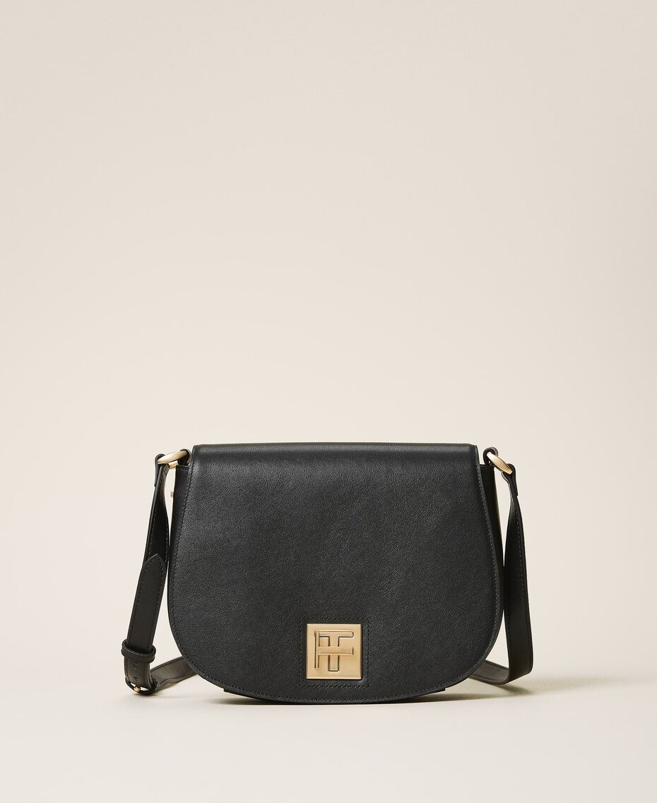 Leather shoulder bag Black Woman 202TD8041-01