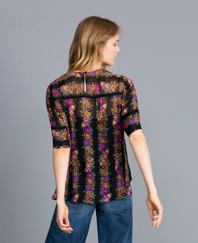 Blusa in georgette a stampa floreale Stampa Fiore Barre' Donna TA82X4-03