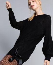 Mini-robe en mohair mélangé Noir Femme SA83BB-01