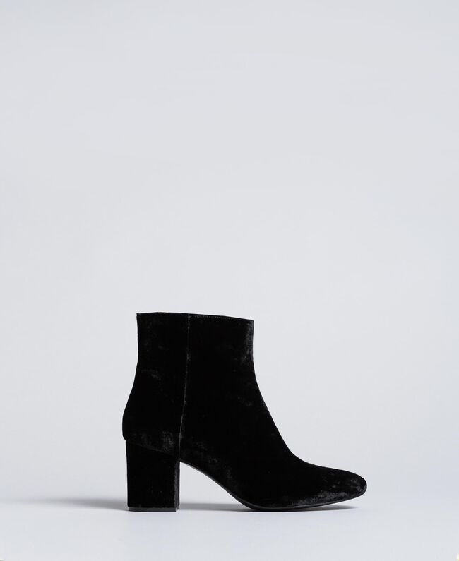 Velvet ankle boots Black Woman CA8THJ-01