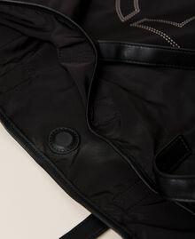 Foldable shopper with logo Black Woman 212TB7190-06