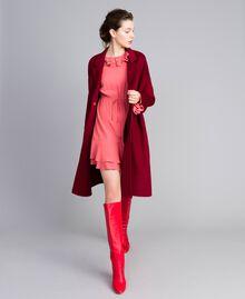 Kurzes Kleid aus Seidenmischung Royal Pink Rosa Frau PA827A-0T