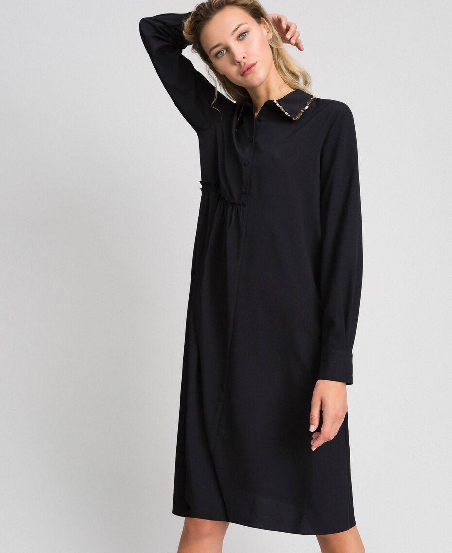 Robe chemisier avec sequins Noir Femme 192ST209C-01