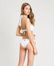 Haut de bikini bandeau avec anneau Blanc Femme 191LBM211-03