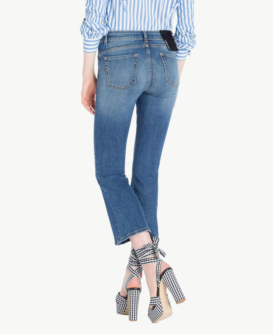 Ausgestellte Jeans Denimblau Frau JS82V4-03