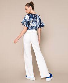"Jeans wide leg bianco con cintura Bianco ""Ice"" Donna 201MT2363-03"