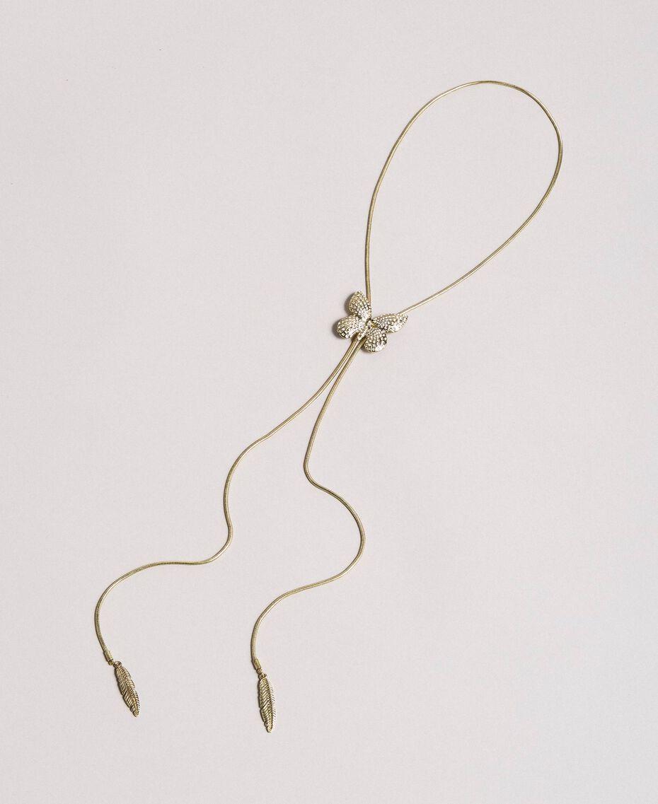 Halskette mit Schmetterling und Anhängern Kristall Frau 191TA4314-01