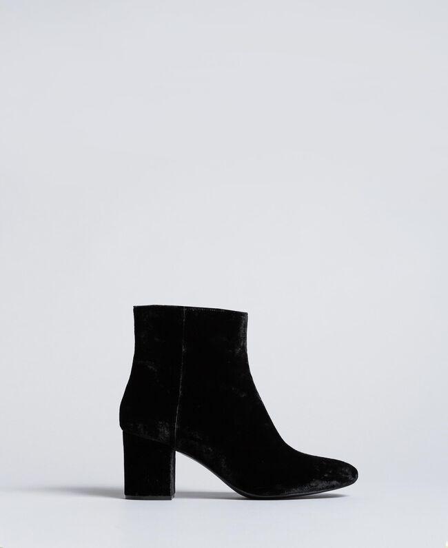 Bottines en velours Noir Femme CA8THJ-01