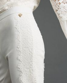 Cropped trousers with lace White Snow Woman 192TT2210-03