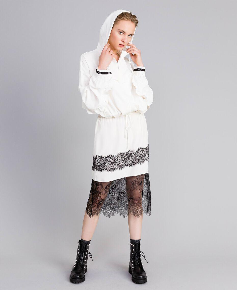 Mid-length silk skirt White Snow Woman PA82EP-0T
