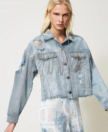 Blouson en jean avec franges en chatons Denim Femme 211TT2380-04