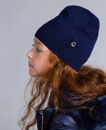 Mütze aus Viskose mit Schleife Blackout Blau Kind GA8HAA-0S