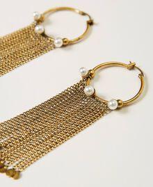 Boucles d'oreilles avec franges Or «Laiton Vieilli Cuivré» Femme 211TO501E-02