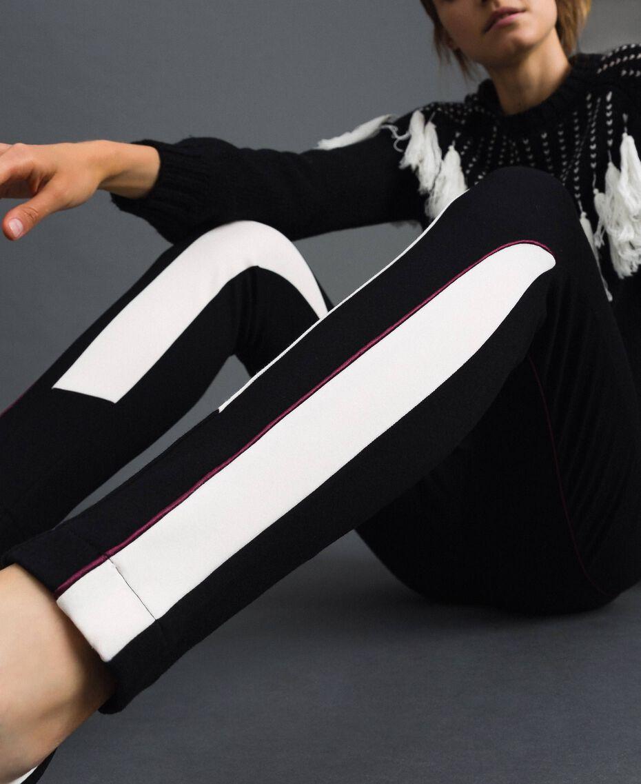 "Leggings color block Nero / Bianco ""Vaniglia"" Donna 192MT2270-01"
