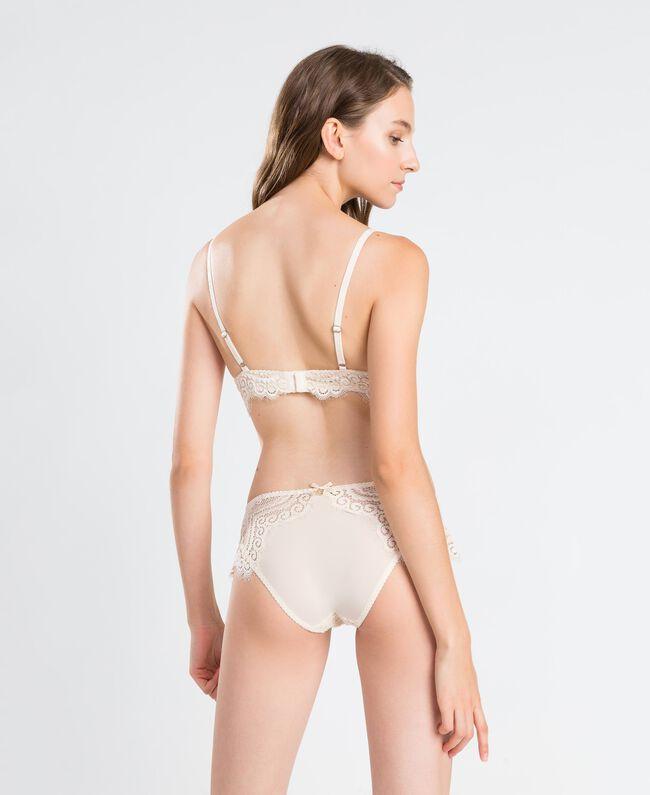 Soutien-gorge push-up lisse avec dentelle festonnée Blanc Femme IA8C33-03