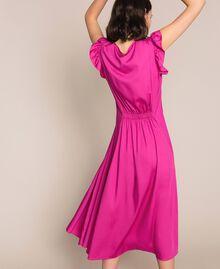Poplin dress with ruffles Flirty Rose Print Woman 201LB2BDD-04
