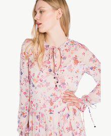 Robe longue imprimée Multicolore Fleurs Quartz Rose Femme JS82NQ-04