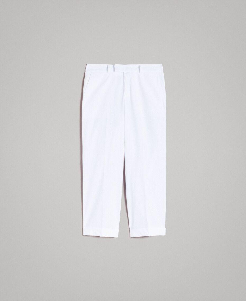Pantalon en popeline Blanc Femme 191TT2232-0S
