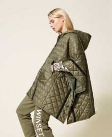 Padded cape with logo Alpine Green Woman 212TP2150-01