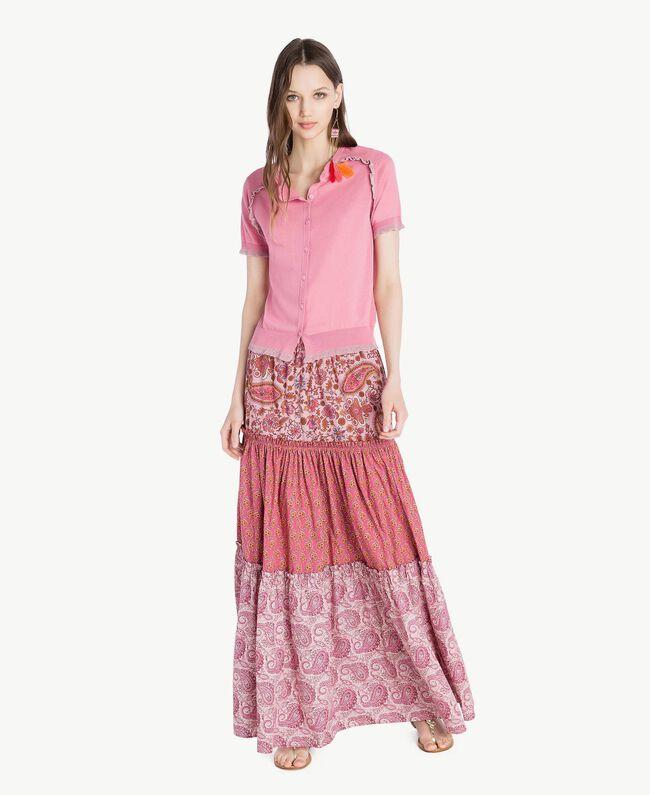 Jupe longue imprimée Imprimé Mélangé Cachemire Femme TS82X1-05