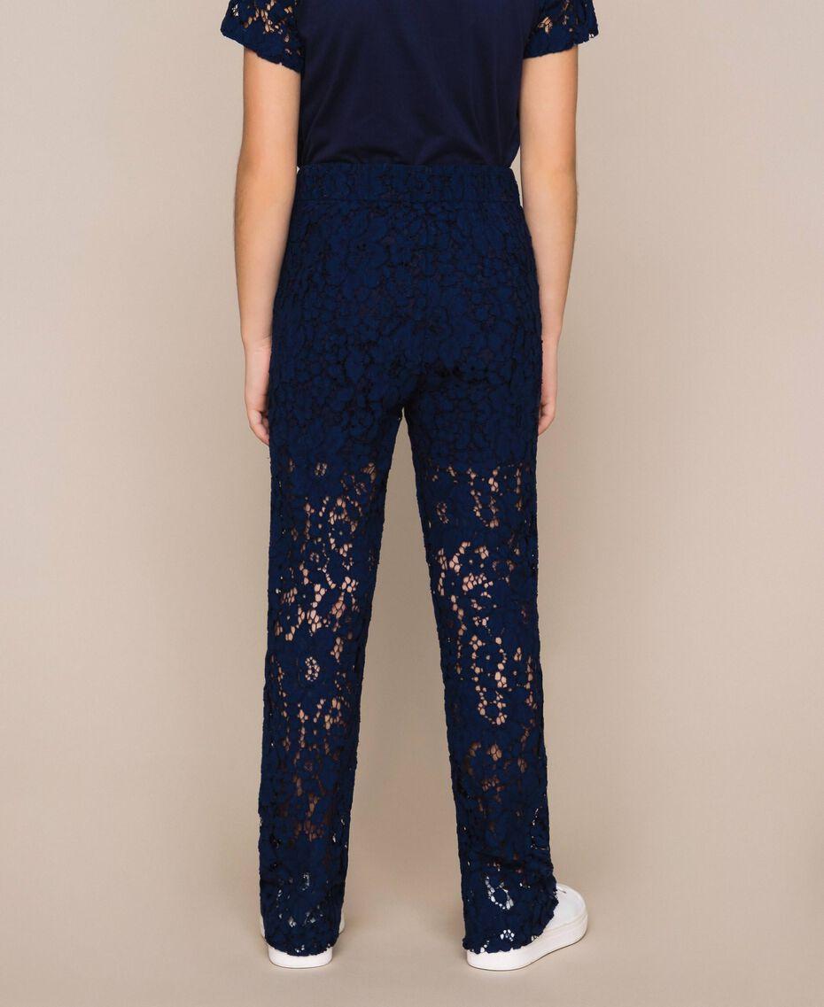 Hose aus Makrameespitze Nachtblau Kind 201GJ2QL0-03