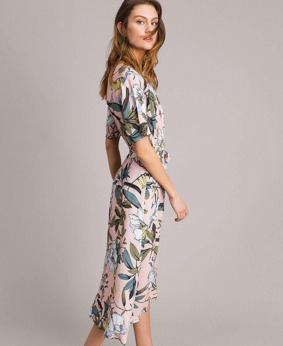 """Robe en crêpe avec imprimé floral Imprimé Exotique """"Rose Doux"""" Femme 191ST2232-02"""