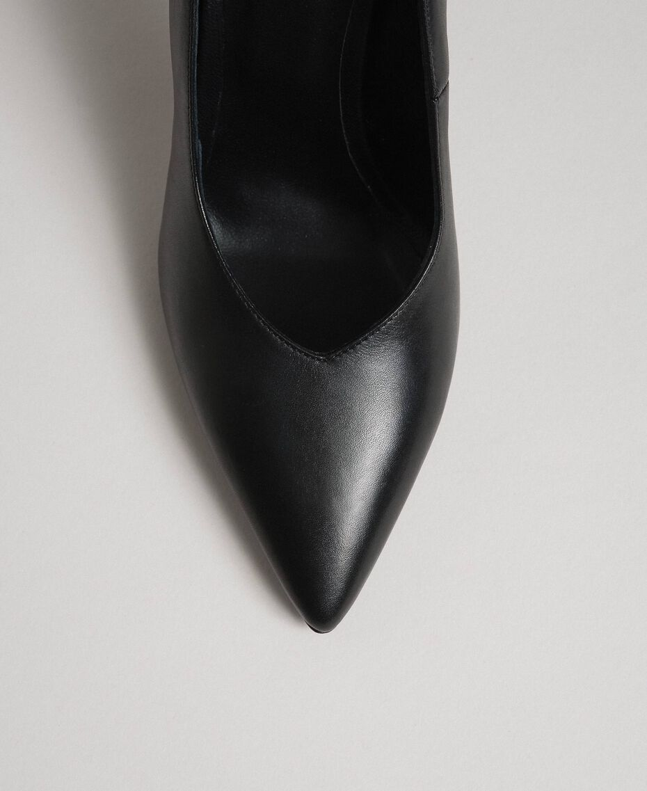 Leather court shoes Black Woman 999TCP010-03
